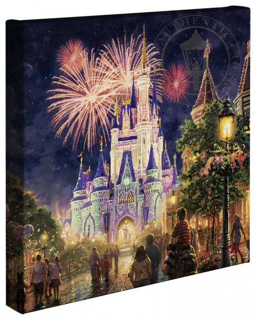 main street usa walt disney world resort thomas kincade gallery wrapped canvas