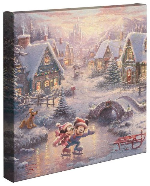 mickey minnie sweetheart holiday thomas kincade gallery wrapped canvas