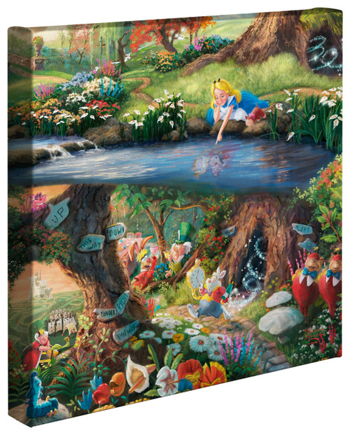 "Alice in Wonderland 14"" by 14"" Gallery Wrapped Canvas"