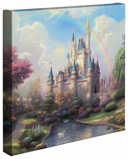 "A New Day at the Cinderella Castle 14"" x 14""Gallery Wrapped Canvas"
