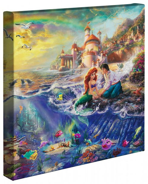 "The Little Mermaid 14"" x 14"" Gallery Wrapped Canvas"