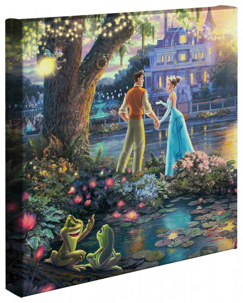 "The Princess and the Frog 14"" x 14"" Gallery Wrapped Canvas"