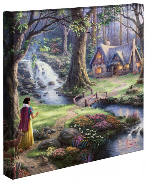 "Snow White Discovers the Cottage 14"" x 14"" Gallery Wrapped Canvas"