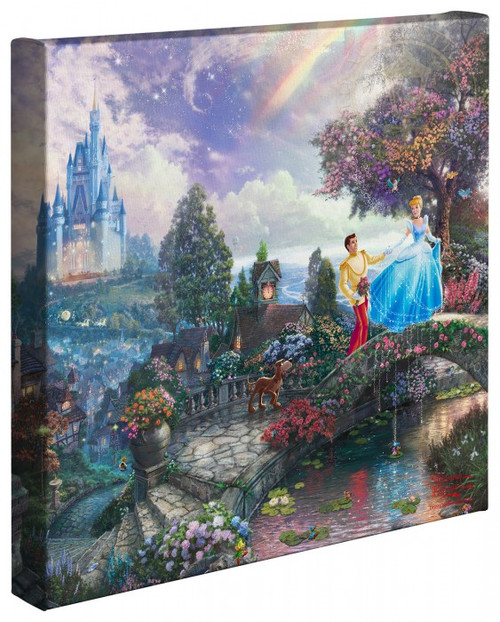 "Cinderella Wishes Upon a Dream 14"" x 14"" Gallery Wrapped Canvas"