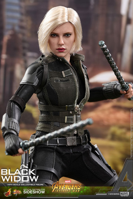 hot toys infinity war black widow 1/6 scale figure