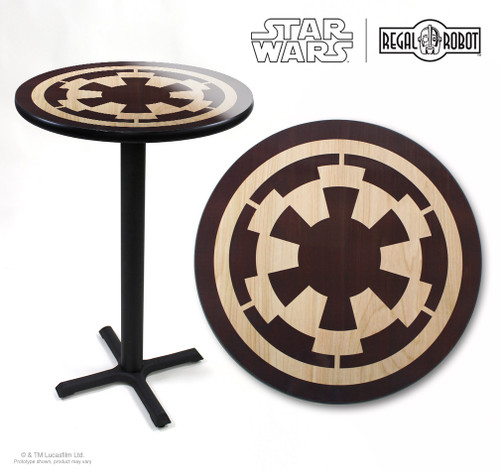 star wars imperial logo cafe table regal robot