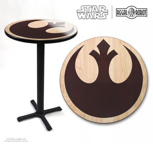 star wars rebel logo cafe table regal robot