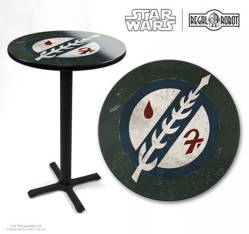 boba fett emblem table star wars regal robot