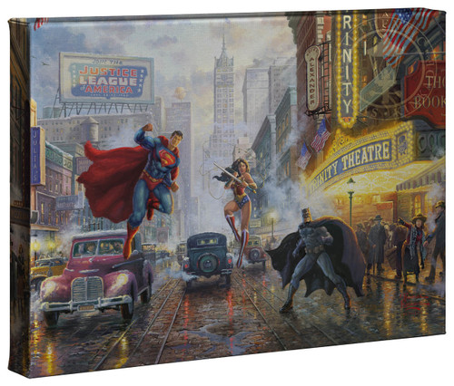 "Batman, Superman, Wonder Woman - Trinity 10""x14"" Gallery Wrapped Canvas"
