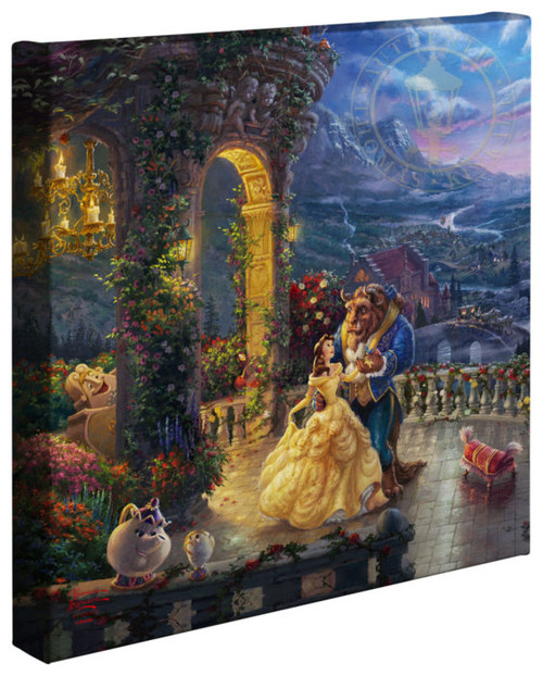 thomas kinkade disney dreams beauty and the beast dancing in the moonlight