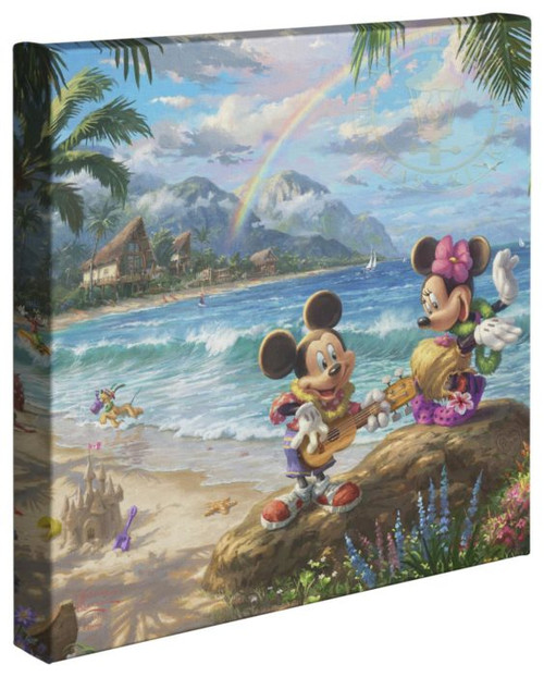 mickey minnie hawaii thomas kinkade studios