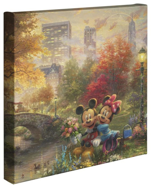 mickey minnie sweetheart central park thomas kinkade