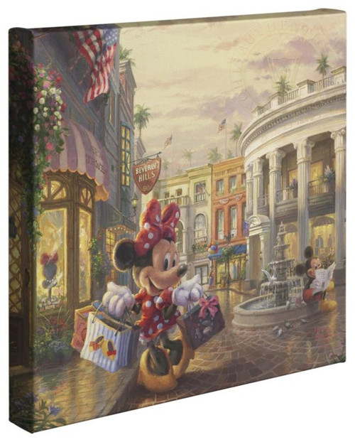 minnie rocks dots on rodeo drive thomas kinkade