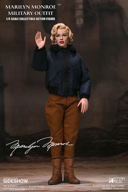 star ace toys marilyn monroe military outfit version one sixth scale figure