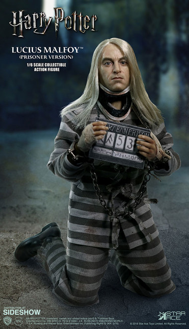 Harry Potter and the Half Blood Prince Lucius Malfoy (Prisoner Version) 1:6 Scale Figure - Display Piece