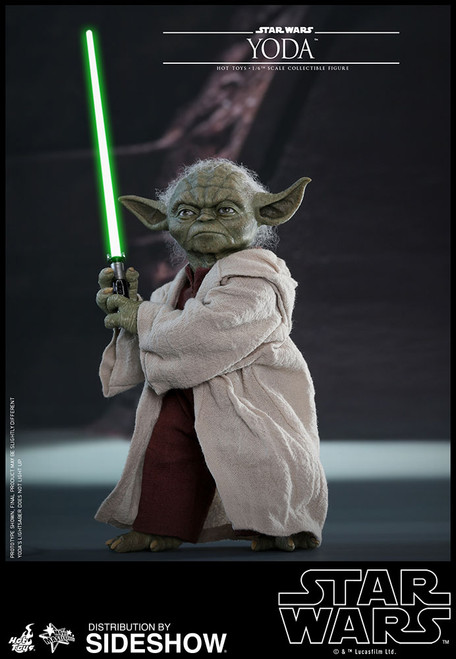 hot toys yoda one sixth scale figure attack of the clones