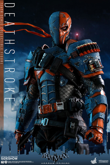 hot toys batman arkham origins deathstroke one sixth scale figure
