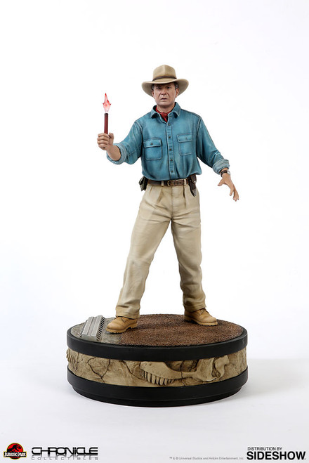 chronicle collectibles jurassic park alan grant quarter scale statue