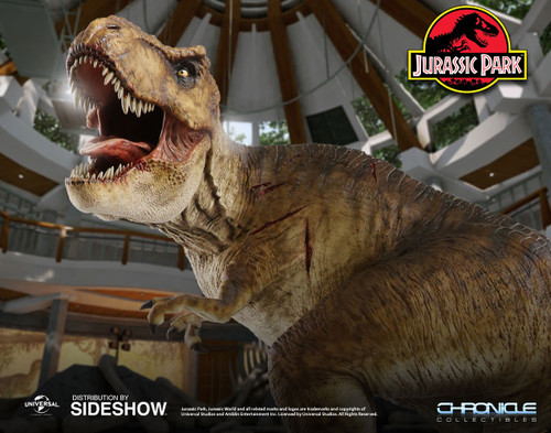 chronicle collectibles jurassic park rotunda rex statue