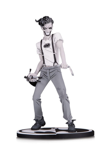 dc collectibles batman black white statue white knight joker murphy