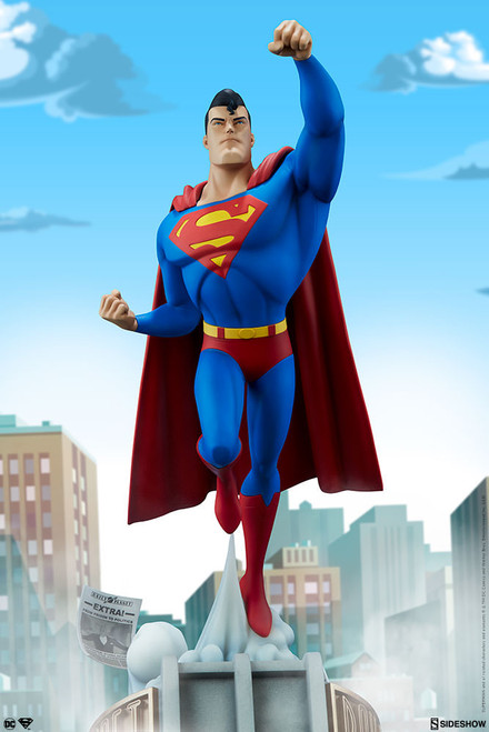 superman animated series statue sideshow collectibles