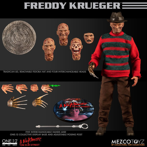 mezco one 12 collective nightmare on elm street freddy krueger action figure
