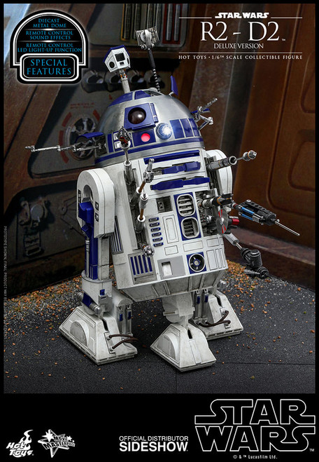 hot toys deluxe r2d2 one sixth scale figure