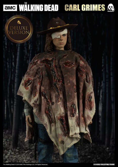 threezero walking dead carl grimes deluxe 1/6 scale figure