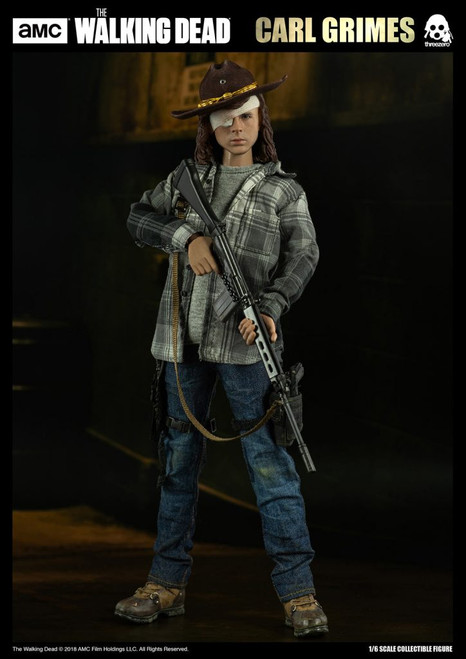 threezero walking dead carl grimes one sixth scale figure
