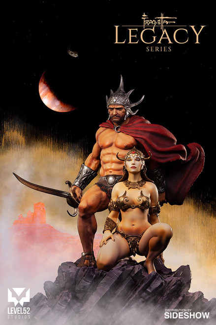 frazetta legacy series swordsman of mars quarter scale statue
