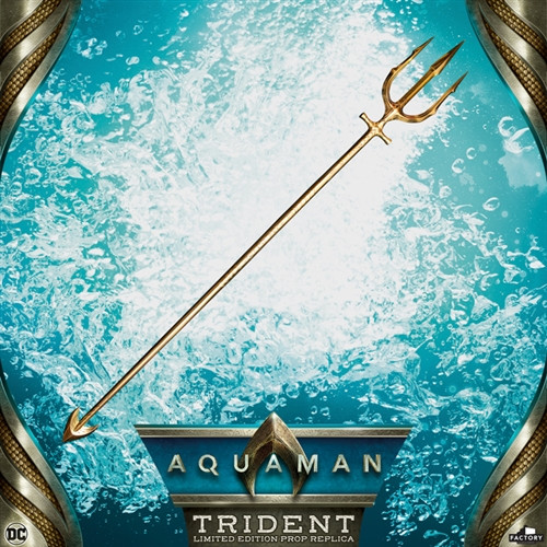 aquaman hero trident prop replica
