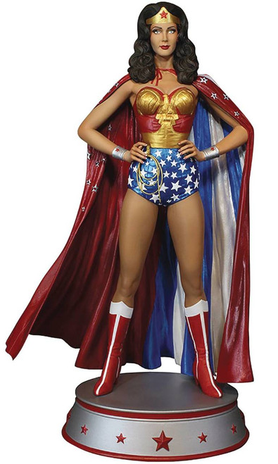 Wonder Woman Lynda Carter Cape Variant Maquette