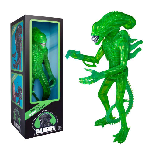 "alien supersize 18"" figure acid green"