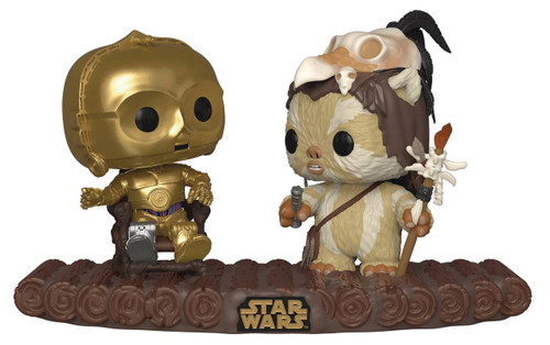 funko pop movie moment c-3po on throne