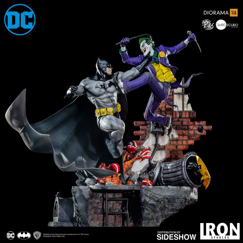 iron studios batman vs joker