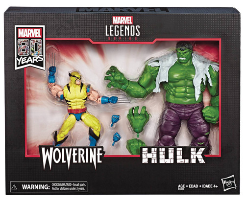 Marvel Legends 80th Anniversary Wolverine vs. Hulk Figure Set