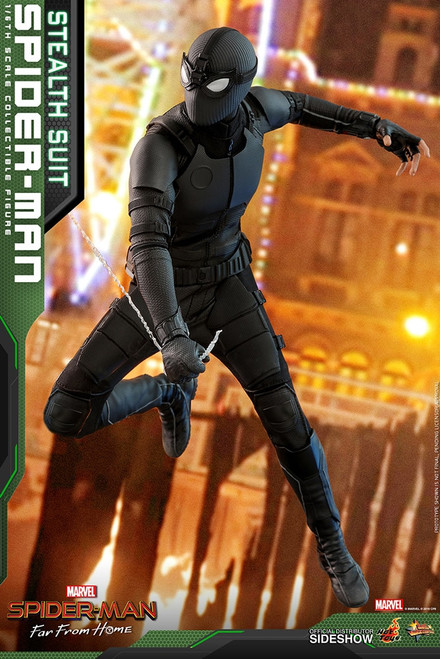 hot toys spider man stealth suit 1