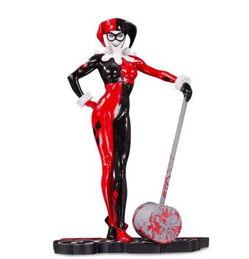 Harley Quinn Red, White and Black Statue by Adam Hughes