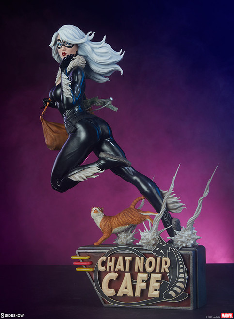 Mark Brooks Artist Series Black Cat Statue