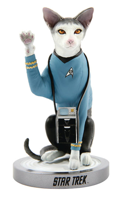 star trek spock cat statue