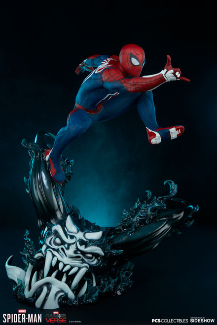 pcs collectibles spider-man advanced suit statue
