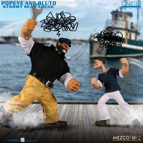 Mezco Toyz One:12 Collective Popeye and Bluto: Stormy Seas Ahead Deluxe Box Set