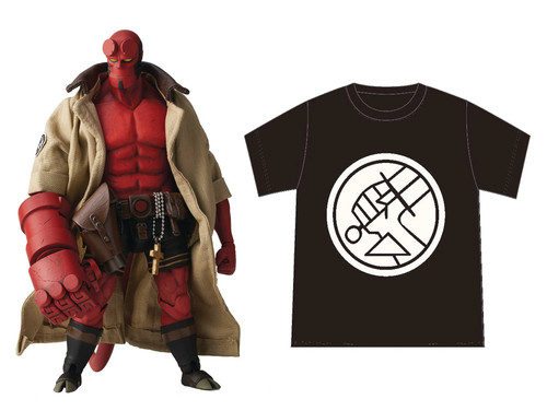 1000 Toys Hellboy Previews Exclusive 1:12 Scale Figure BPRD Shirt Version
