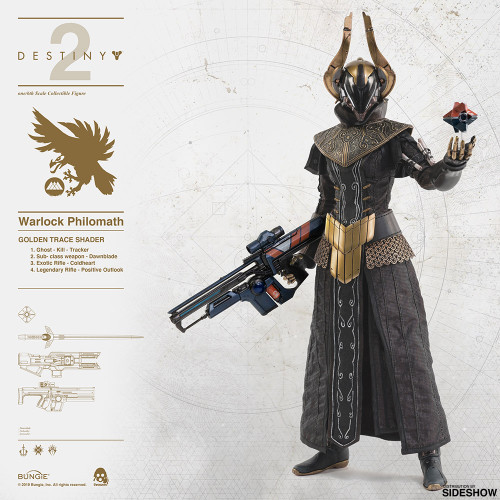 Threezero Destiny 2 Warlock Philomath (Golden Trace Shader) 1:6 Scale Figure