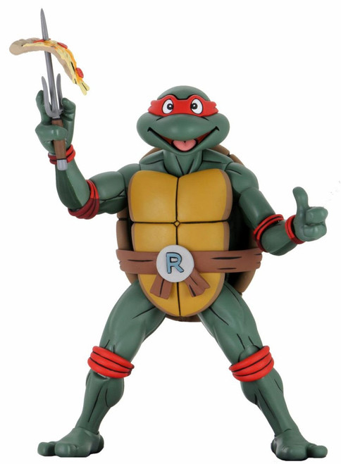 neca tmnt 1/4 scale cartoon raphael