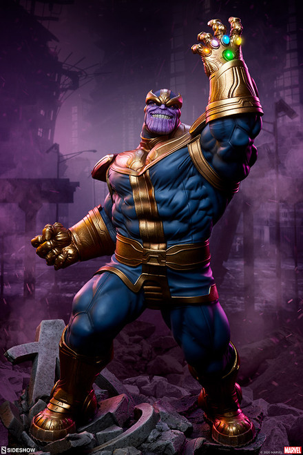 sideshow collectibles thanos modern statue