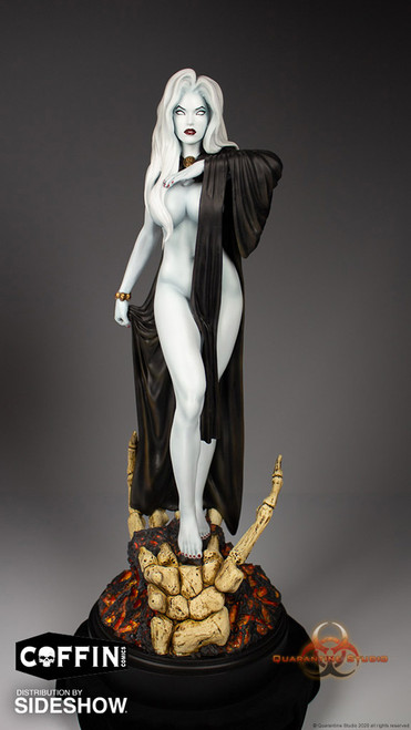 quarantine studio lady death seductress statue