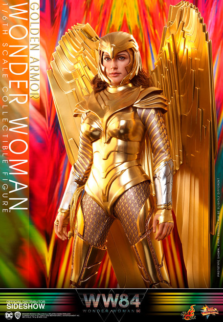 hot toys golden armor wonder woman sixth scale figure