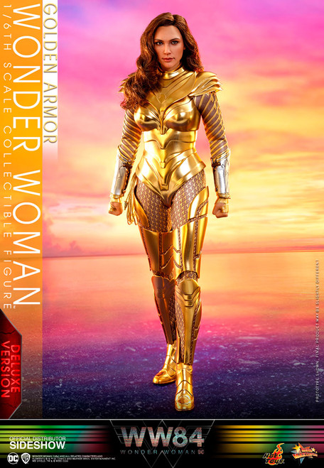 hot toys golden armor wonder woman deluxe