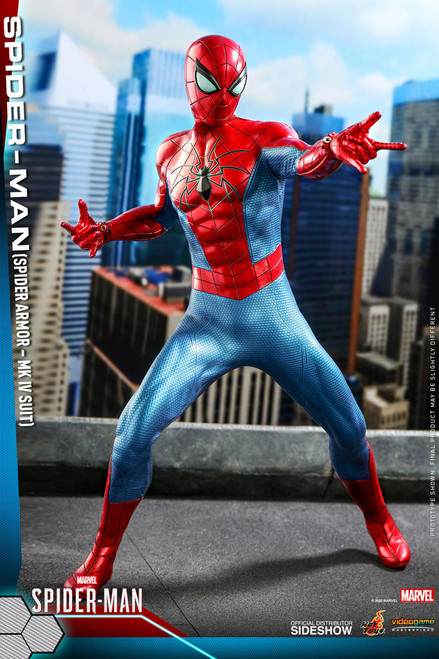 hot toys spider-man spider armor mk iv suit
